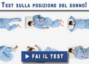 Test sulla posizione del sonno!