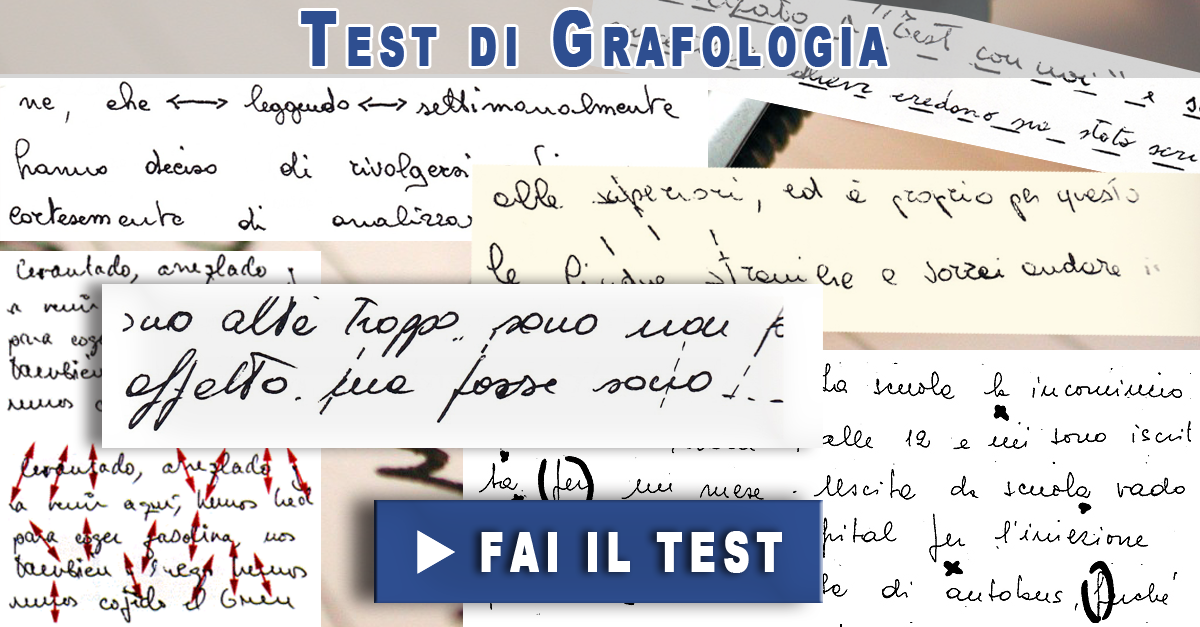 Test di Grafologia