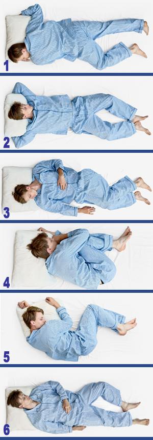 posizioni del sonno